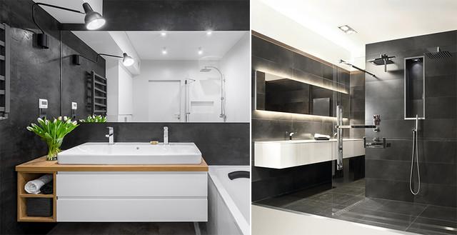 Czarna łazienka Pomysł Na Ciekawą Aranżację łazienka